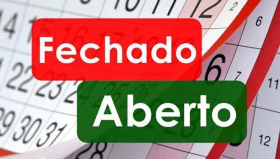 Veja o que funciona em Aracaju no dia 1º de janeiro