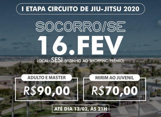 Jiu-jitsu: inscrições para Circuito Estadual se encerram nesta quinta