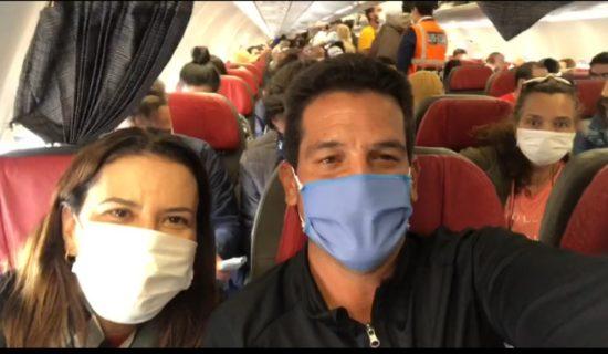 Casal sergipano retorna ao Brasil após confinamento no Peru