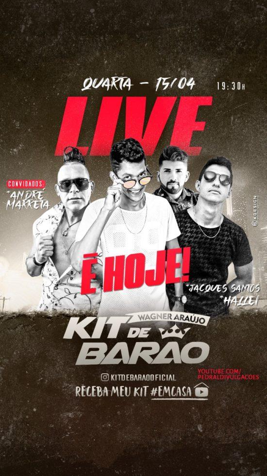 Live com a banda Kit de Barão acontece nesta quarta-feira,15; Saiba como assistir