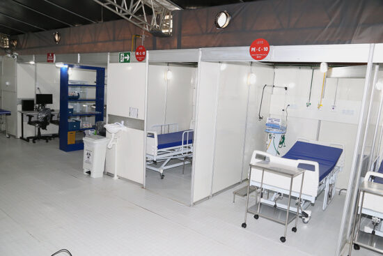 Hospital de Campanha passa a funcionar com 40% dos leitos previstos