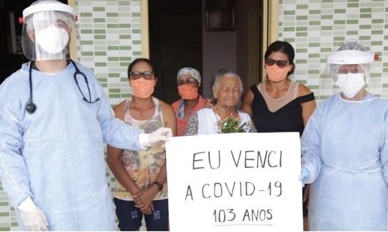 Idosa de 103 anos se cura do coronavírus em Simão Dias