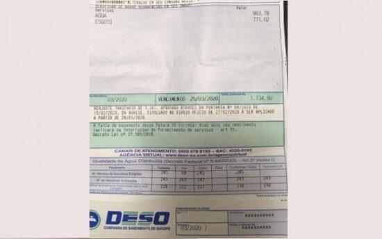 MP pede que consumidores fiquem atentos às faturas emitidas pela Deso
