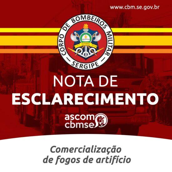 Corpo de Bombeiros informa que a comercialização de fogos de artifício e fogueiras está proibida em Sergipe