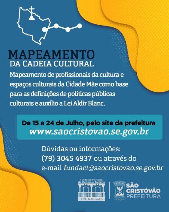 Prefeitura de São Cristóvão inicia o período de cadastro para mapear artistas e espaços culturais da cidade