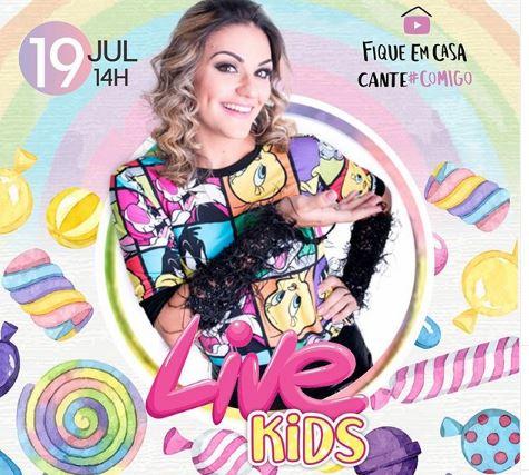Maysa Reis fará live especial para as crianças