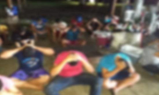 Polícia interrompe festa com paredão de som em Laranjeiras