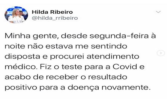 Prefeita de Lagarto anuncia que contraiu a covid-19 pela segunda vez