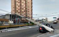 Apesar da Pandemia, acidentes de trânsito envolvendo postes continuam altos em Aracaju