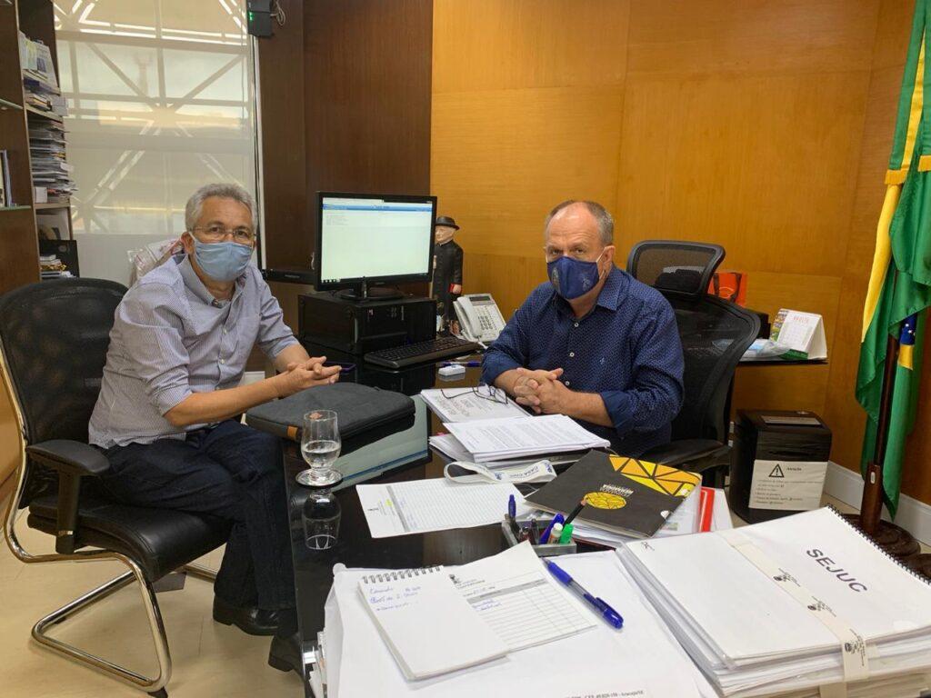Governador recebe prefeito Marcos Santana e anuncia mais uma obra estruturante para São Cristóvão