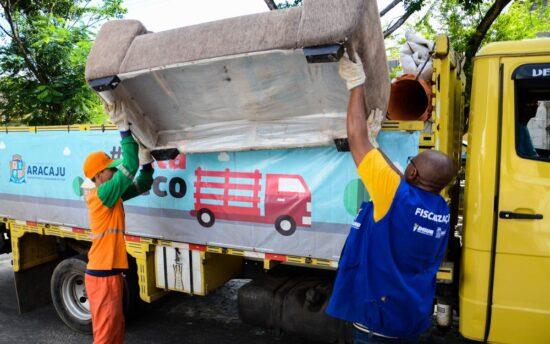 Coleta de material sem serventia chega à três bairros da capital