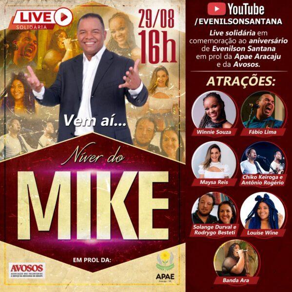 """""""Níver do Mike"""": Evenilson Santana organiza live solidária no próximo dia 29"""