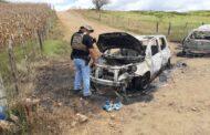 Veículos usados em explosões a bancos em Carira são encontrados carbonizados