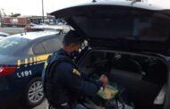 Motorista é preso com mais de 56kg de maconha dentro de porta-malas na BR-101 em São Cristóvão