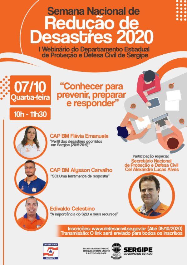 Semana Nacional de Redução de Desastres terá Webinário realizado pelo Governo do Estado