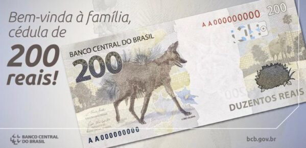Nota de R$ 200 começa a circular hoje
