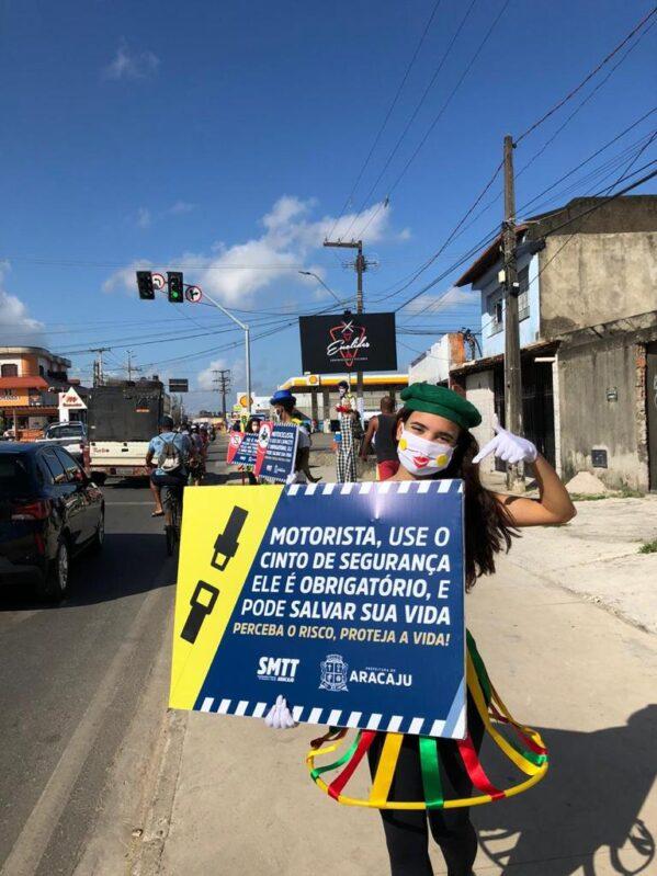 Programação da Semana Nacional de Trânsito em Aracaju é aberta na avenida Euclides Figueiredo