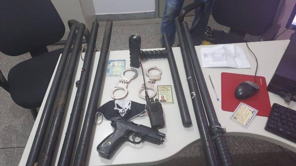 Polícia Civil prende suspeitos por formação de milícia particular e ameaça a uma candidata