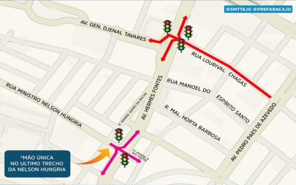 Trânsito é alterado nos bairros Grageru e Centro, em Aracaju