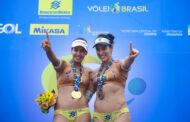 Duda e Ágatha vencem outra etapa e fecham ano na liderança do ranking  nacional
