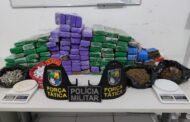 Polícia Militar apreende cerca de 72 quilos de droga em Nossa Senhora do Socorro
