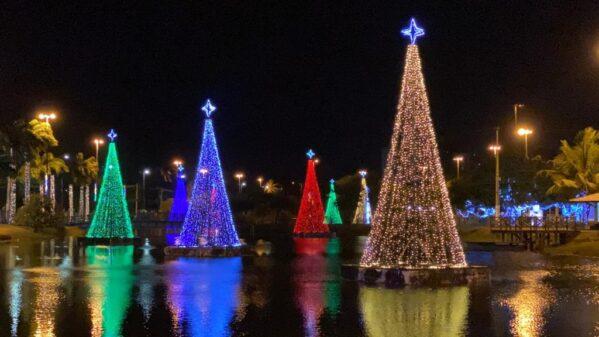 Natal Iluminado: Prefeitura e Energisa acendem as luzes da decoração no Parque da Sementeira