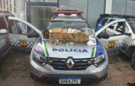 Polícia Militar apreende 40 kg de maconha e prende suspeitos de tráfico de drogas