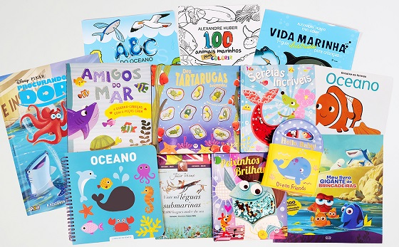 Livros com personagens do fundo do mar divertem e ensinam as crianças