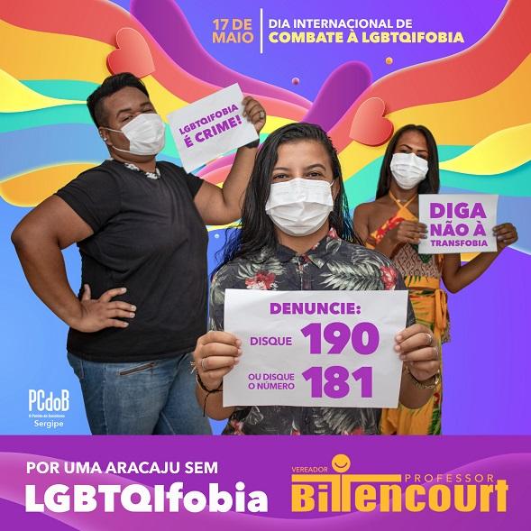 Vereador Professor Bittencourt lança campanha de combate à LGBTQIFobia