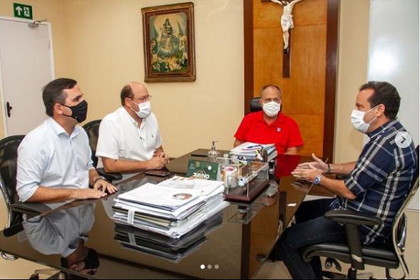 Governador Belivaldo Chagas recebe ex-deputado André Moura