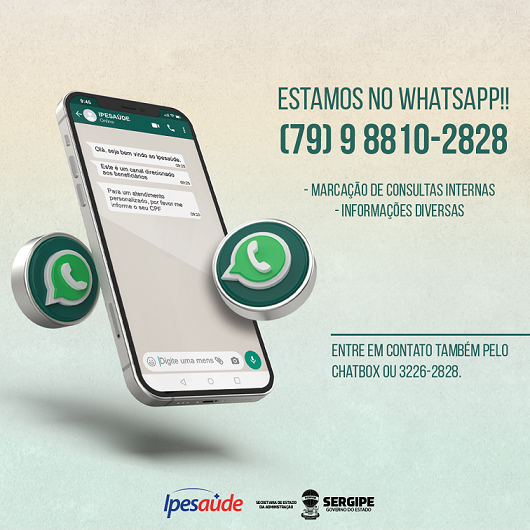 Ipesaúde lança contato via WhatsApp para marcação de consultas internas e informações