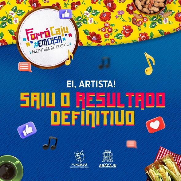 Prefeitura define artistas para o Forró Caju em Casa 2021; veja lista com 82 atrações
