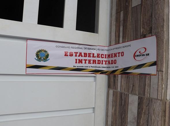 Fiscalização interdita 11 academias em oito municípios de Sergipe