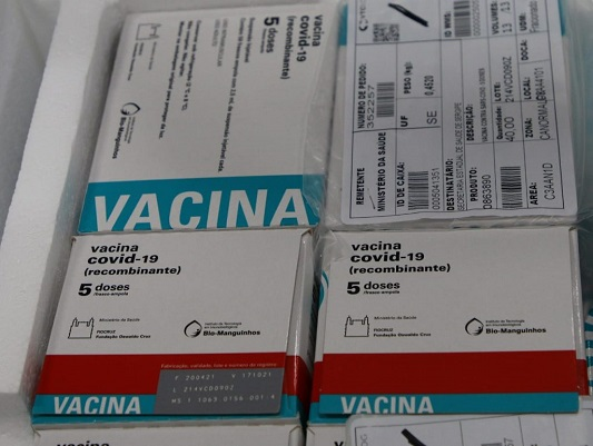 Secretaria de Estado da Saúde recebe esta semana mais de 126 mil doses de vacinas contra a Covid-19