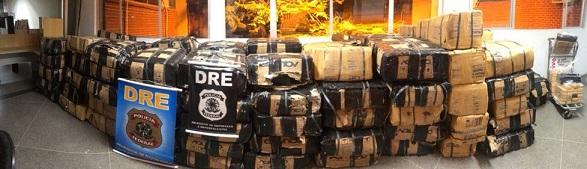 Mais de cinco toneladas de maconha paraguaia são apreendidas pela Polícia Federal no interior de Sergipe