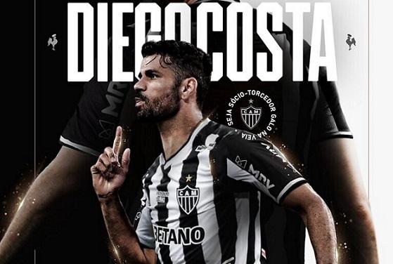 Após contratação do sergipano Diego Costa, presidente do Atlético pede 100 mil sócios