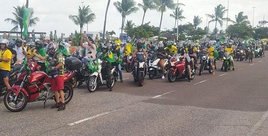 Apoiadores de Bolsonaro realizam ato em Aracaju em defesa do voto impresso