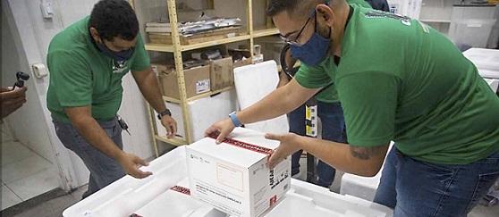 Secretaria de Estado da Saúde envia para os municípios nesta terça-feira mais de 150 mil vacinas contra a Covid-19