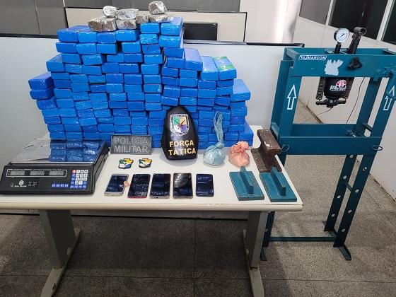 Polícia Militar apreende mais de 92 Kg de drogas em Nossa Senhora do Socorro