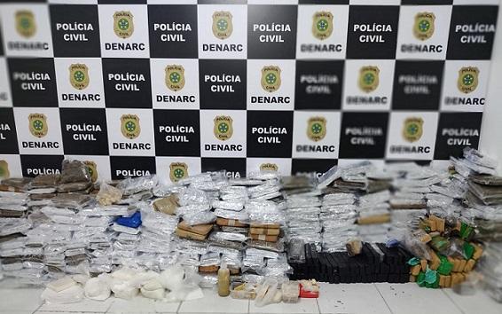 Polícia Civil apreende 700kg de drogas na Zona de Expansão de Aracaju.