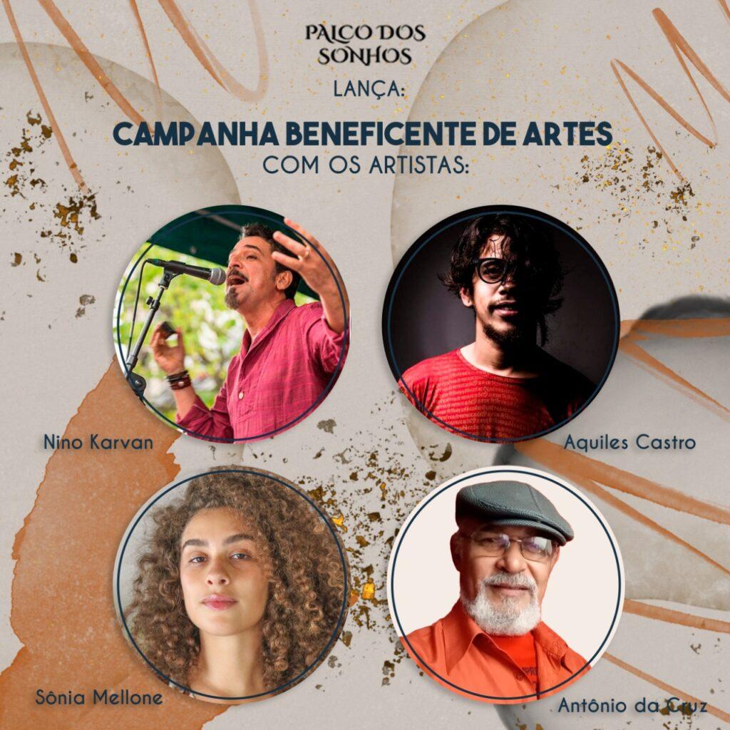 Palco dos Sonhos lança Circuito Beneficente de Artes