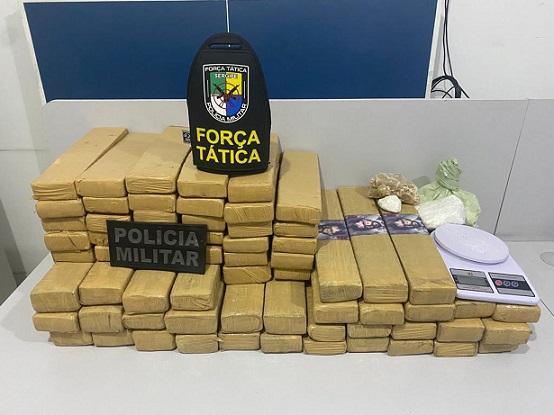 Polícia Militar prende três mulheres e apreende mais de 66kg de drogas na Grande Aracaju