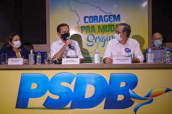 João Doria realiza agenda das prévias em Sergipe e defende a pré-candidatura de Eduardo Amorim ao Senado